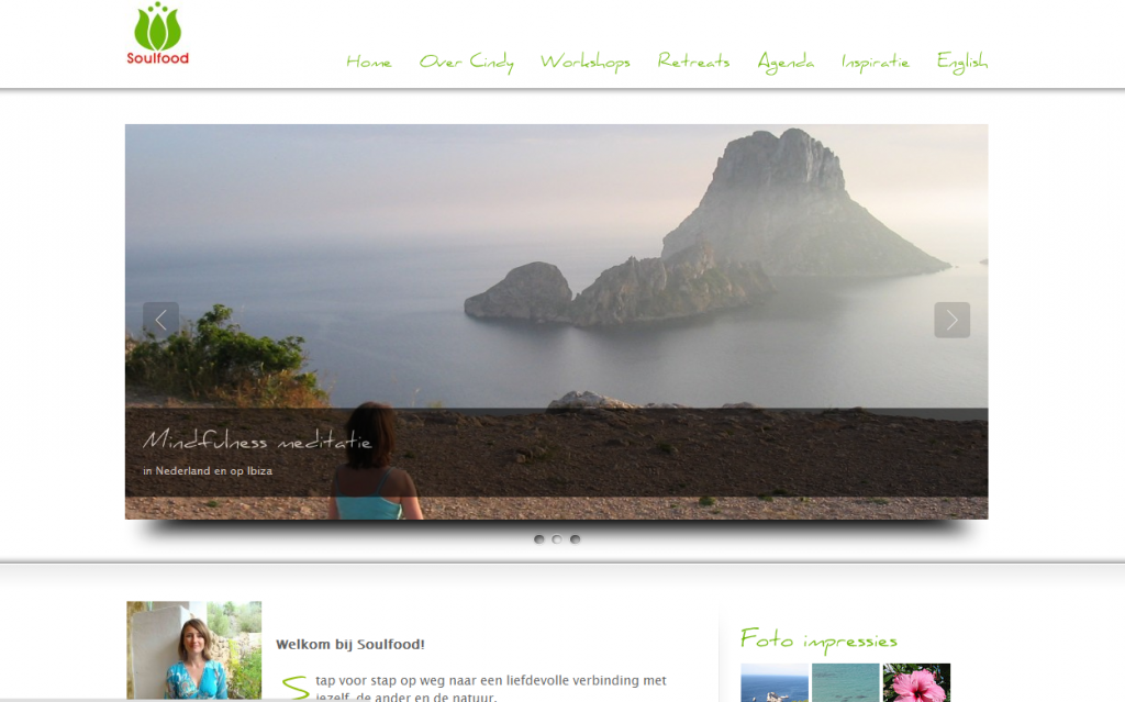 Website over mindfulness, door smoelcommunicatie